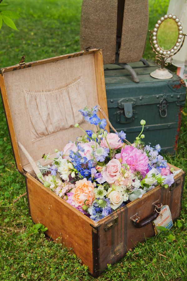 Flower Plant Suitcase
